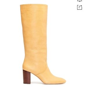 Loeffler Randall Goldy Leather Boots In Yellow